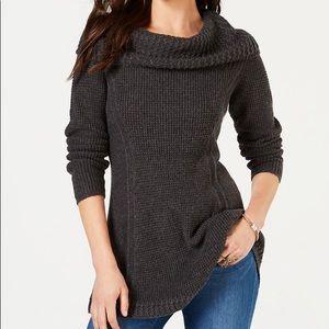Style & Co Petite Cowl-Neck Sweater PL